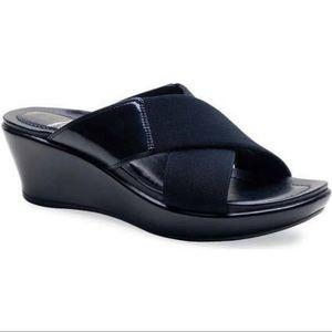 Dansko Ava Wedge Leather Sandals 11.5 12 42